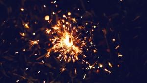 sparks, hot, celebration, night