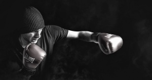 boxer, gloves, shirt, hat, man, sport, exercise