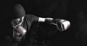 bokser, hansker, skjorte, hatt, mann, sport, trening