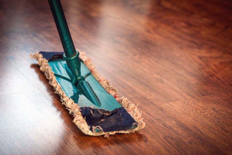 tisztító, padló, tábla, ragyogó, elmélkedés, szövet, fém