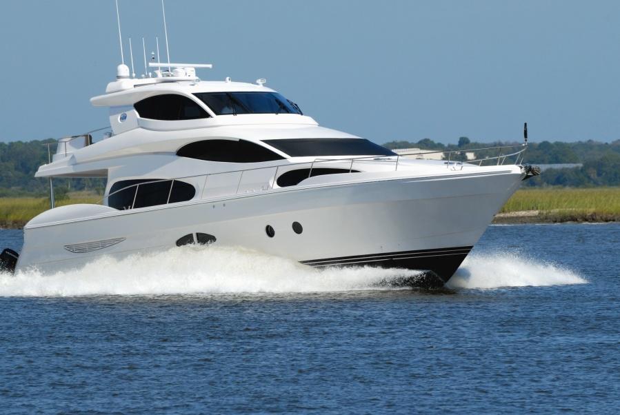 jachta, moře, rychlost, vlna, luxusní, pobřeží