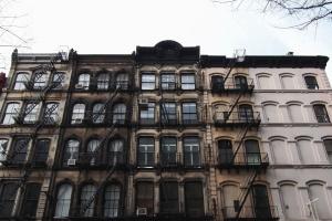 Bâtiment, fenêtre, façade, architecture, métal, escalier, construction