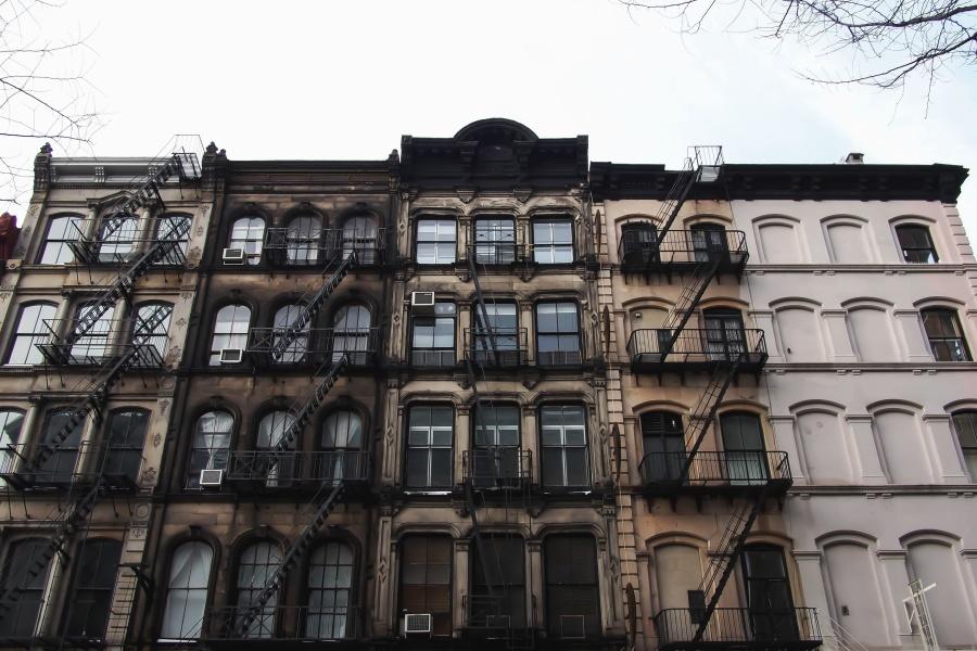 будівництво, вікна, фасад, архітектура, металу, сходи, будівництво