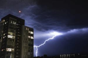 lightning, thunder, storm, building, rain, architecture, light, city