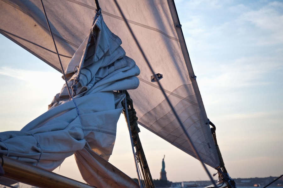 Segel, Segeltuch, Seil, Metall, Segelboot