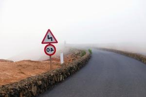 trafik underskrive, road, tåge, vold, sten