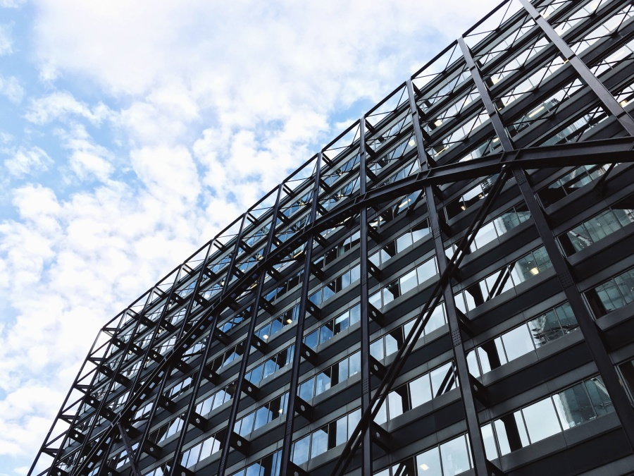 Steel Glass Buildings : Free picture building construction metal glass facade