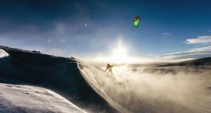 екстремен спорт, парашут, сняг, сърф, слънцето, планина, вятър, спорт