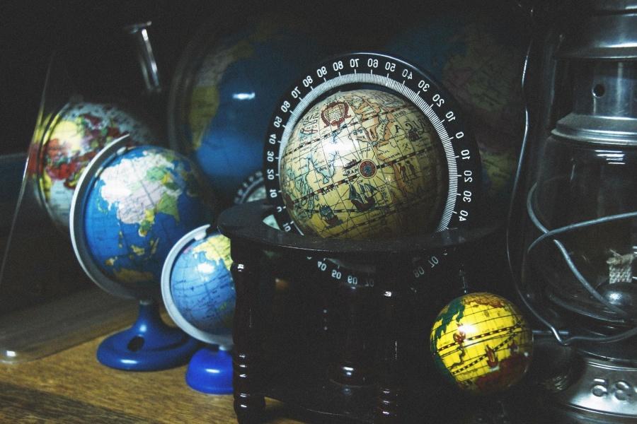 지구본, 지도, 대륙, 지리, 과학