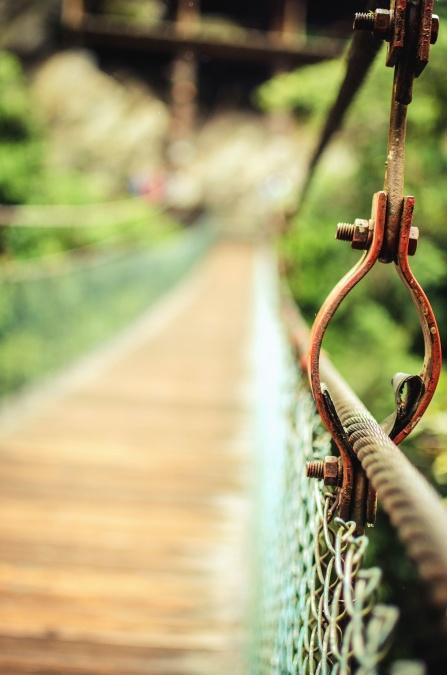 мост, ограда, Планк, притежателят, природа, пешеходец