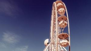 Rad, Vergnügungspark, Metall, Bau, Unterhaltung, Himmel