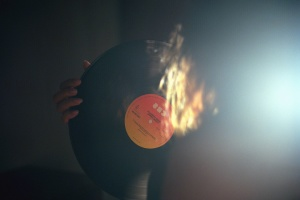 vinyl, record player, music, fire, hand, finger, flame, hot