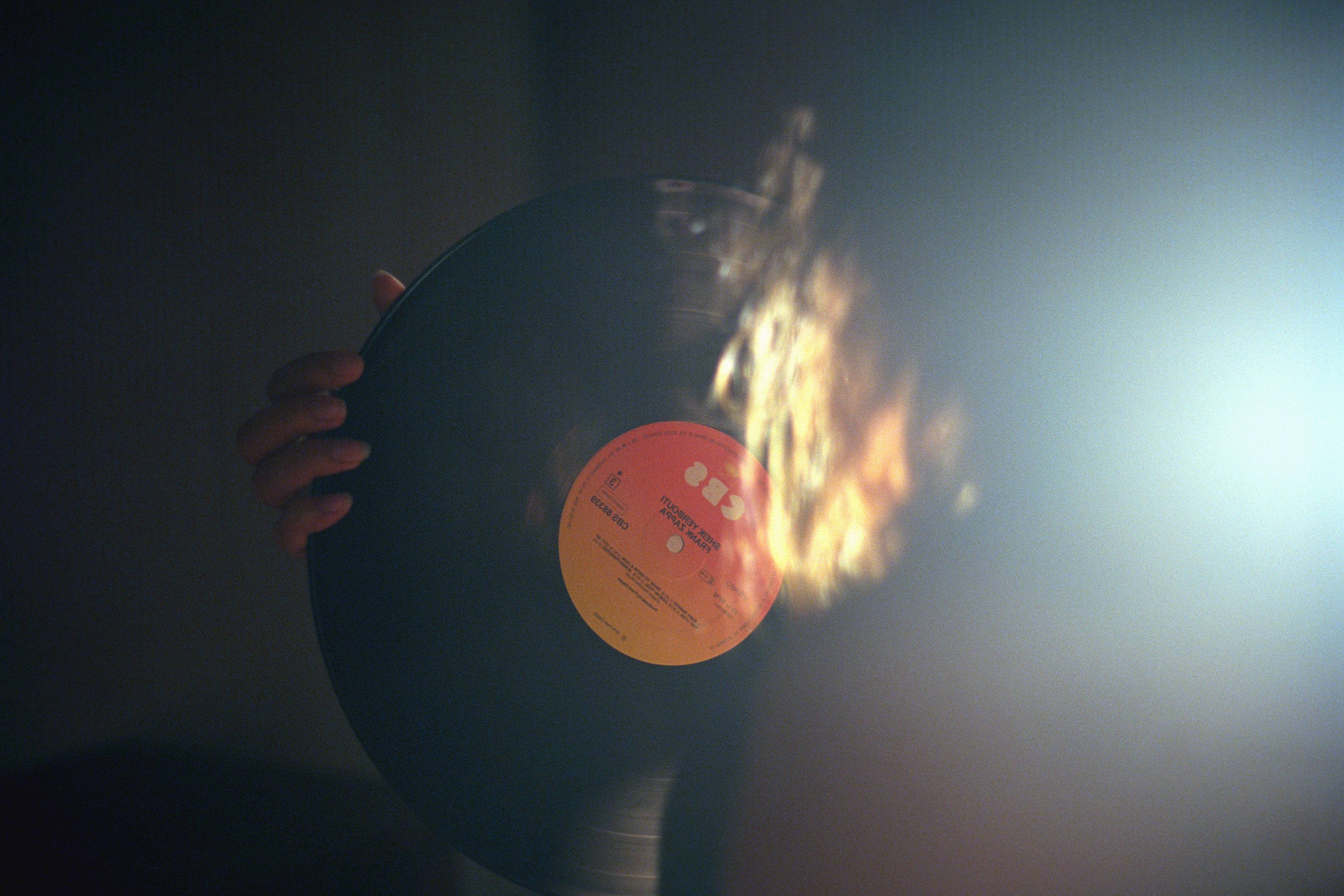 Free Picture Vinyl Record Player Music Fire Hand