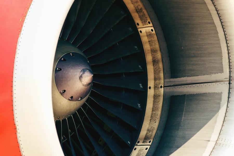 suihkumoottorin, jet, ilma, turbiini, lapa, metalli, alumiini, akseli