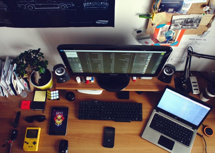 laptop, számítógép, számítógép-billentyűzet, mobiltelefon, játék konzol, tábla, növény