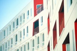 Terrasse, Balkon, Architektur, Bau, modern, Fenster, Fassade