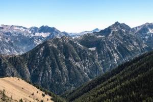 산, 계곡, 숲, 나무, 눈, 추위, 안개, 프리