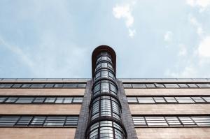 glass, fasade, arkitektur, bygg, gjerde, metall