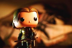 Juguete, niña, guerrero, espada, escudo