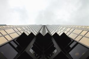 fasada, svjetlo, odraz, zgrada, ured, nebo, arhitektura