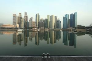 размисъл, сграда, архитектура, езерото, водата, град