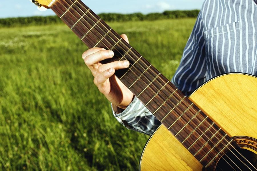 gitar, dize, el, müzik, müzisyen, sanat