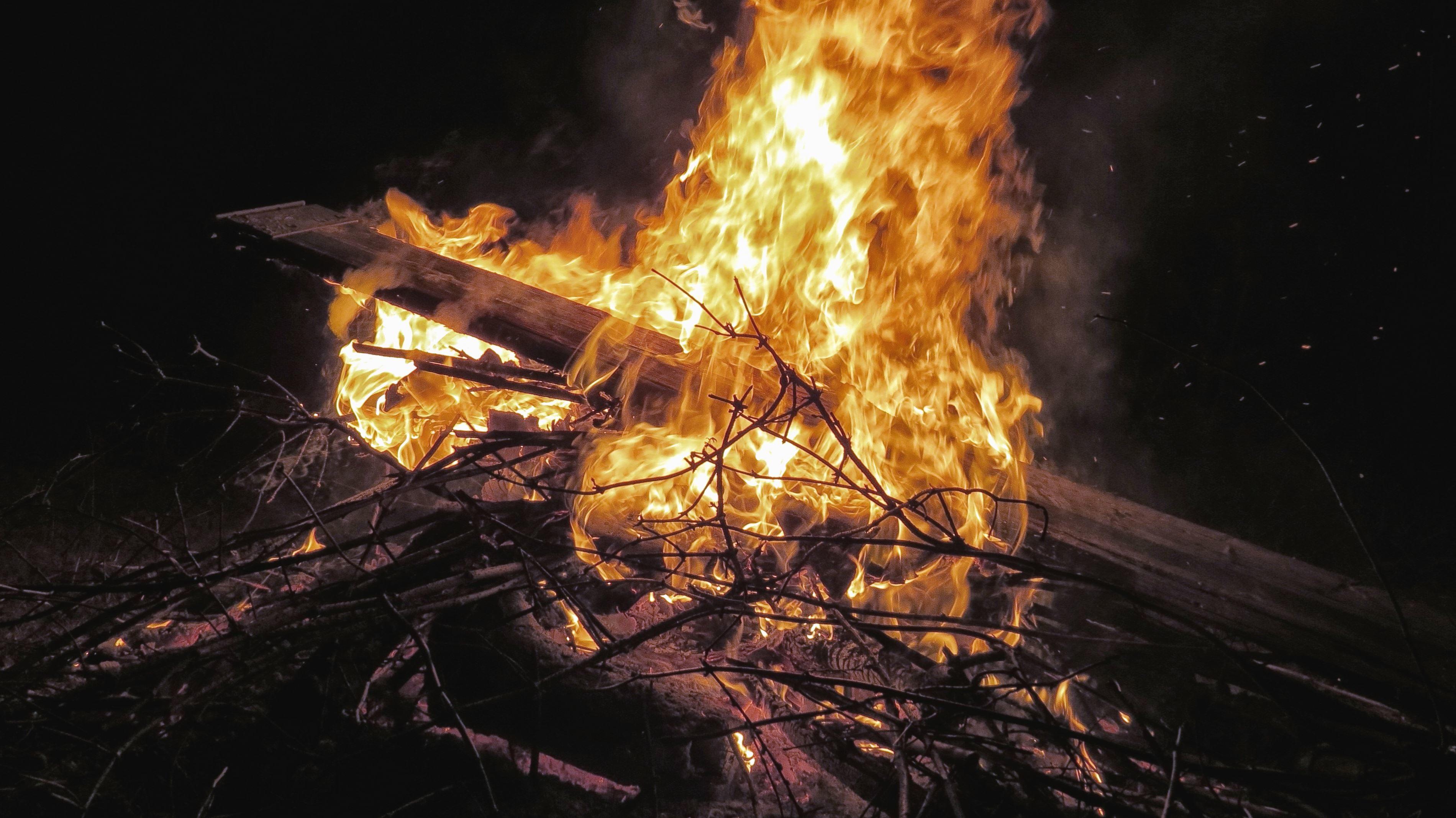 Kostenlose Bild: Feuer, Zweig, heiß, Flamme, Rauch, Holz