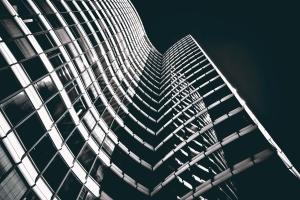 zgrada, moderne, arhitektura, gradnja, stakla, odraz, prozora, fasada