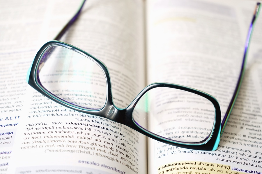 eyeglasses, book, letter, word, reading, diopter
