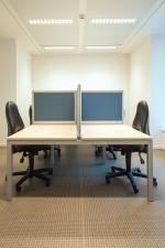 Ufficio, divisorio, tavolo, sedia, parete, interno, ufficio, affari