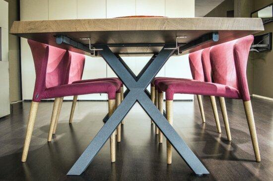 table, chair, metal, wood, interior, stylish