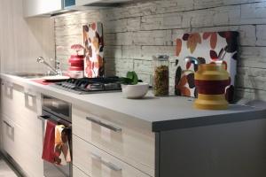 Tela, horno, estufa, especia, cocina, pared, interior