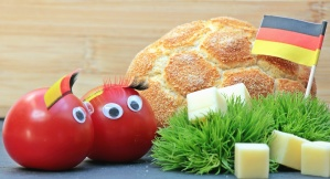 tomatoe, flag, bread, cheese, plant, food, decoration