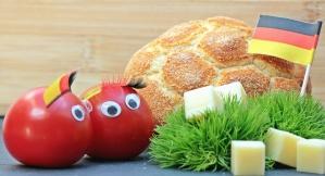 Tomatoe, bandiera, pane, formaggio, pianta, cibo, decorazione