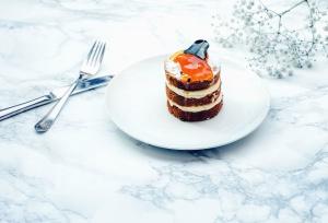 gaffel, kniv, plade, kage, søde, dessert