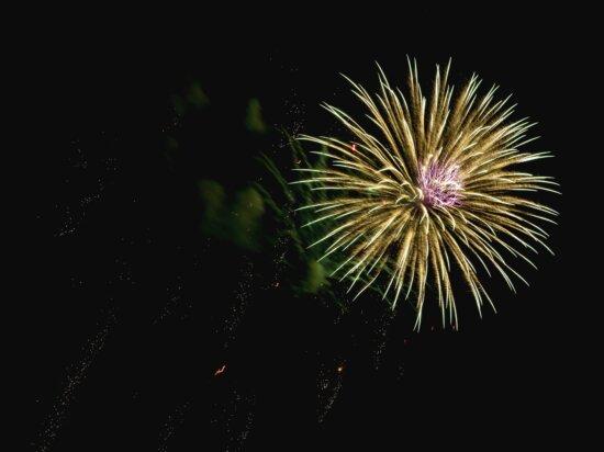 fireworks, bright, colorful, celebration, rocket
