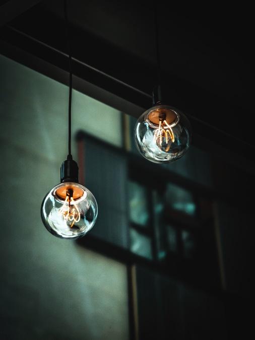 žarulja, svjetlo, kabel, stakla, unutrašnjost