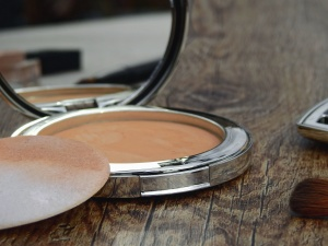 face powder, mirror, table, texture, beautification