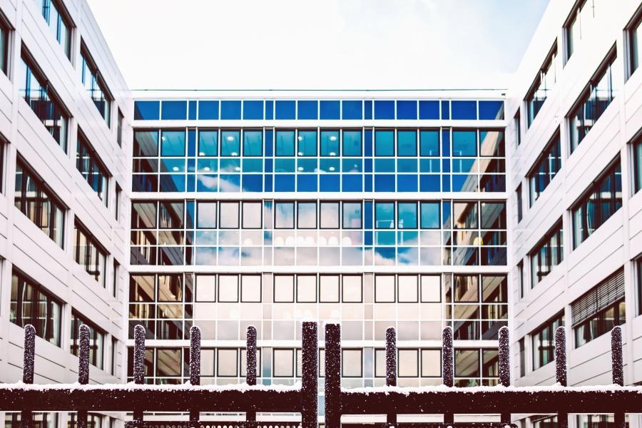 construção, vidro, arquitetura, reflexão, complexo, negócios, escritório