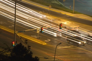 semafori, putokaz, auto, asfalt, svjetlo, brzina, linija