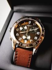 손목 시계, 가죽, 금속, 우아한, 시간, 분, 정밀
