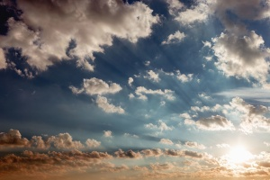 sun, beam light, sky, cloud