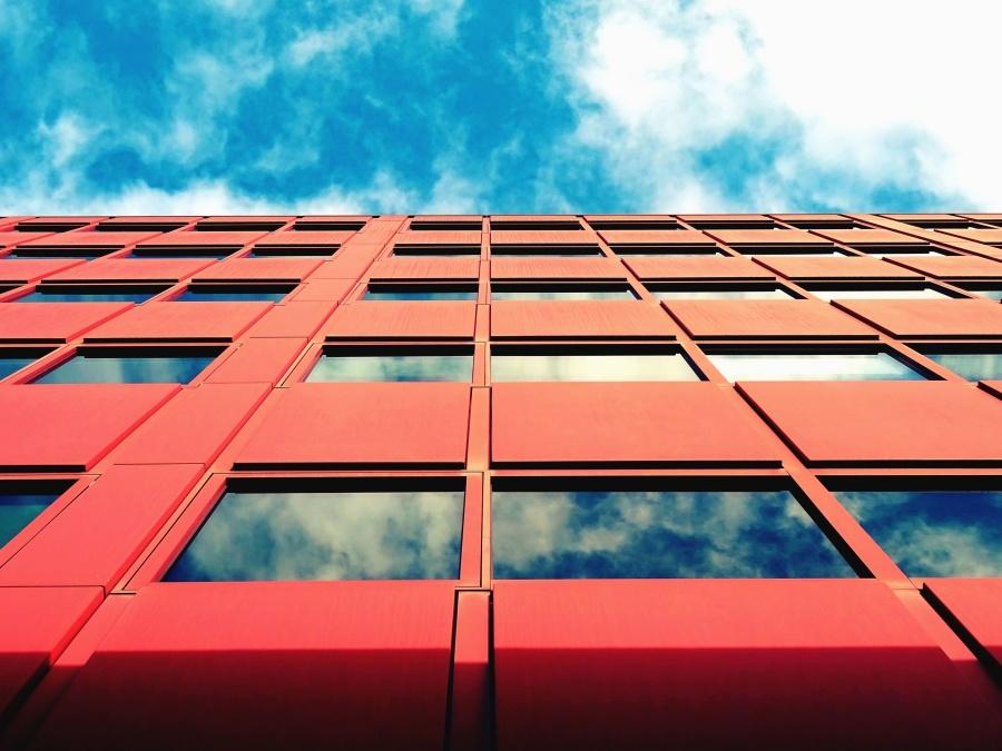 odraz, staklo, prozor, arhitektura, zgrada, izgradnja, nebo