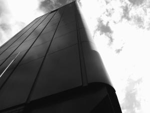 biznesowej, miejskiej, budowa, architektura, fasada, Chmura, niebo