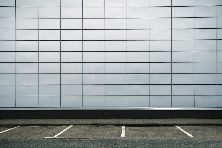 път, асфалт, стена, фасада