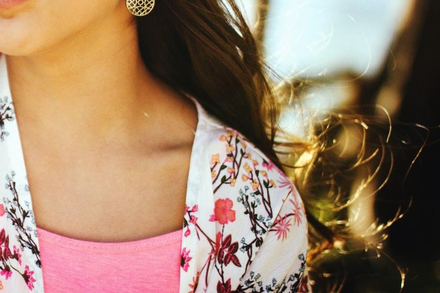dievča, vlasy, tričko, košeľa, foto model
