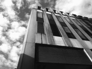metal, architektury, system wentylacji, niebo, budynku, budynek