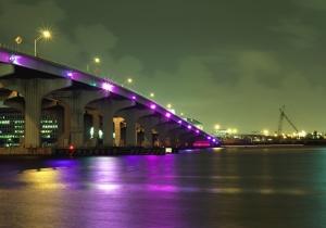 most, žeriav, rieka, voda, mesto, svetla, odraz