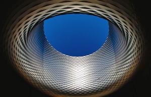 metal, alumínio, moderno, arquitetura