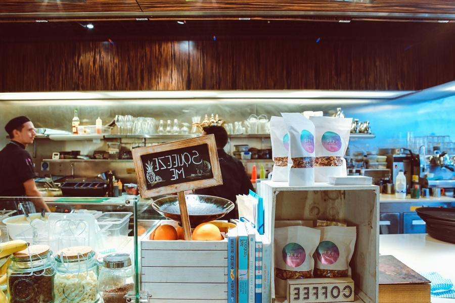 butikk, pris, stativ, mennesker, mat, markedet